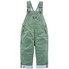Toddler Boy OshKosh B'gosh® Convertible Dinosaur Lined Overalls