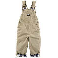 Toddler Boy OshKosh B'gosh® Convertible Checker Lined Overalls