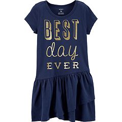 Toddler Girl Carter's 'Best Day Ever' Ruffle Dress