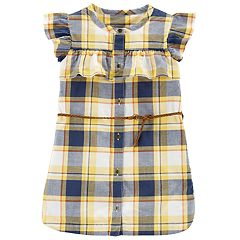 Toddler Girl Carter's Plaid Ruffle Front Dress
