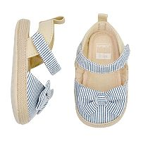 Baby Girl Carter's Striped Espadrille Sandal Crib Shoes