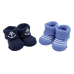 Baby Boy Carter's 2-pack Anchor & Striped Newborn Booties