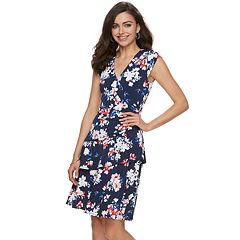 Women's ELLE™ Print Ruffle Faux-Wrap Dress