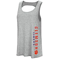Women's Colosseum Clemson Tigers Twisted Back Tank Top