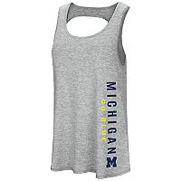 Women's Colosseum Michigan Wolverines Twisted Back Tank Top