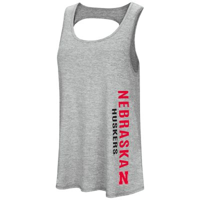 Women's Colosseum Nebraska Cornhuskers Twisted Back Tank Top
