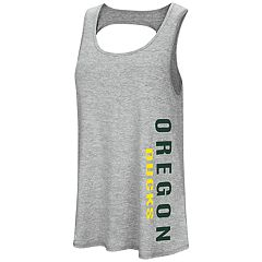 Women's Colosseum Oregon Ducks Twisted Back Tank Top