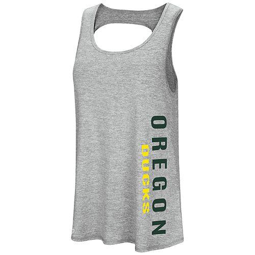 Women's Colosseum Oregon Ducks Twisted Back Tank Top