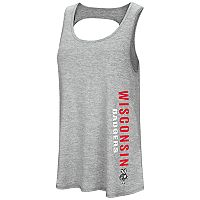 Women's Colosseum Wisconsin Badgers Twisted Back Tank Top