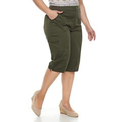 Plus Size Croft & Barrow® Utility Skimmer Capris