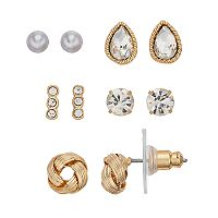 LC Lauren Conrad Nickel Free Knot Stud Earring Set