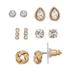 LC Lauren Conrad Nickel Free Knot Stud Earring Set