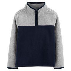 Toddler Boy OshKosh B'gosh® 1/4 Zip Colorblock Pullover Fleece Top