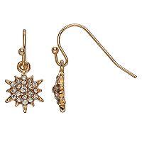 LC Lauren Conrad Nickel Free Snowflake Simulated Crystal Drop Earrings