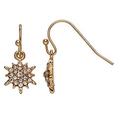 LC Lauren Conrad Nickel Free Snowflake Simulated Crystal Drop Earrings