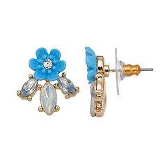 LC Lauren Conrad Blue Flower Nickel Free Stud Earrings