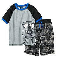 Boys 8-20 Jelli Fish Print 2-Piece Pajama Set