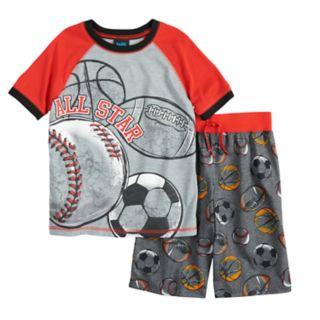 Boys 8-20 Jelli Fish Print 2-Piece Pajama Set