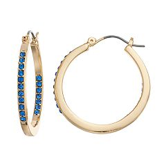 Dana Buchman Inside-Out Hoop Earrings