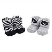 Baby Boy Carter's 2-pack Bear & Striped Newborn Booties