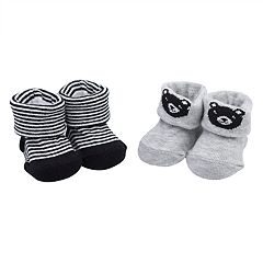 Baby Boy Carter's 2-pack Bear & Striped Newborn Booties