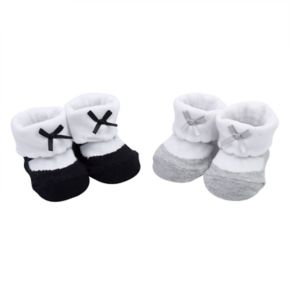 Baby Girl Carter's 2-pack Mary Jane Bow Newborn Booties