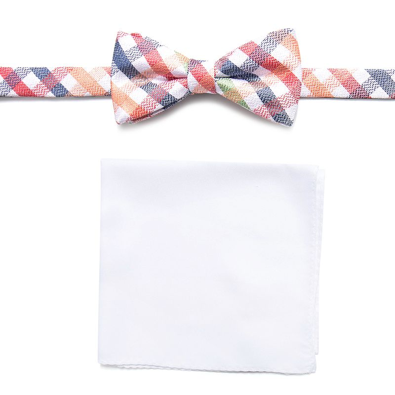 Men's Croft & Barrow® Bow Tie Pocket Square Set bow tie and pocket square set, Natural
