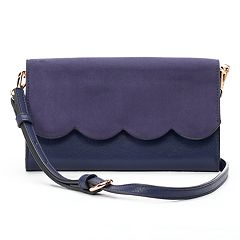 LC Lauren Conrad Iris Scalloped Crossbody Wallet