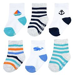 Baby Boy Carter's 6-pack Striped Nautical Crew Socks