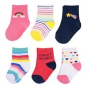 Baby Girl Carter's 6-pack Rainbow Crew Socks
