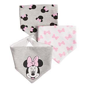 Disney's Minnie Mouse Baby 3-pack Bandana Bibs