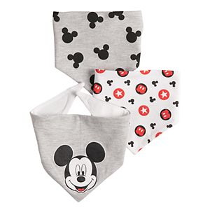 Disney's Mickey Mouse Baby 3-pack Bandana Bibs