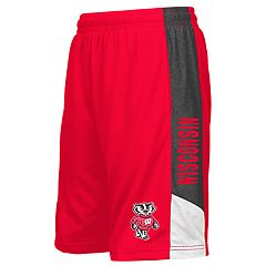 Boys 8-20 Colosseum Wisconsin Badgers Shorts