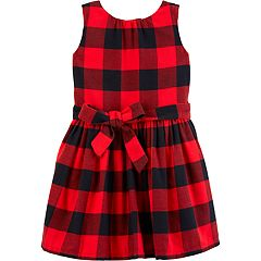 toddler girl carters plaid flannel dress - Girl Christmas Dresses