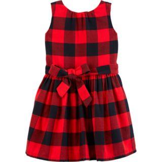 Toddler Girl Carter's Plaid Flannel Dress