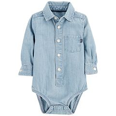 Baby Boy OshKosh B'gosh® Chambray Button Down Bodysuit