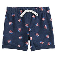 Baby Boy Jumping Beans® Flag Knit Shorts