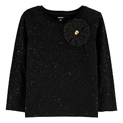 Toddler Girl Carter's Rosette Glitter Top