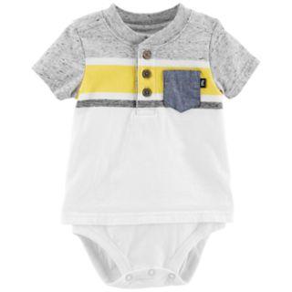 Baby Boy OshKosh B'gosh® Striped Mock Layer Henley Bodysuit