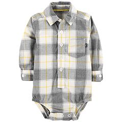 Baby Boy OshKosh B'gosh® Plaid Button Down Bodysuit