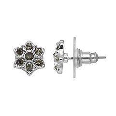 LC Lauren Conrad Black Flower Nickel Free Stud Earrings