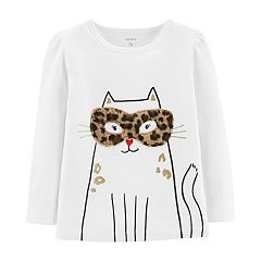 Toddler Girl Carter's Cheetah Print Cat Tee