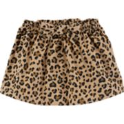Toddler Girl Carter's Corduroy Cheetah Print Skirt