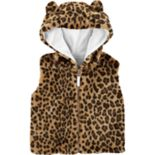 Toddler Girl Carter's Faux-Fur Cheetah Print Vest