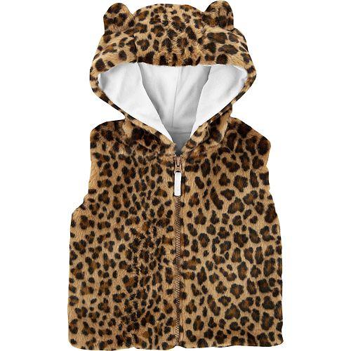 Toddler Girl Carter's Faux-Fur Cheetah Print Vest