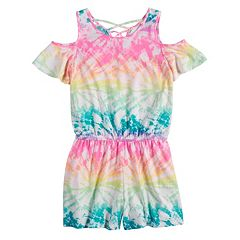 Girls 7-16 SO® Strappy Cold Shoulder Romper