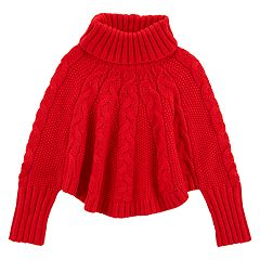 Toddler Girl Carter's Cable-Knit Poncho Sweater