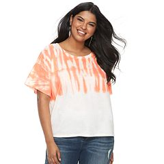 Juniors' Plus Size SO® Graphic High-Low Hem Tee