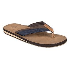 Wembley Denim Men's Thong Flip Flops