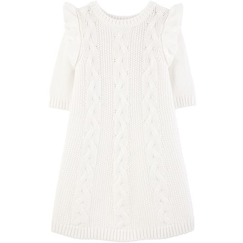 Toddler Girl Carter's Cable Knit Sweater Dress